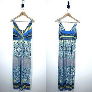 NWT Soma Large Britney Maxi Dress Seaward Scroll